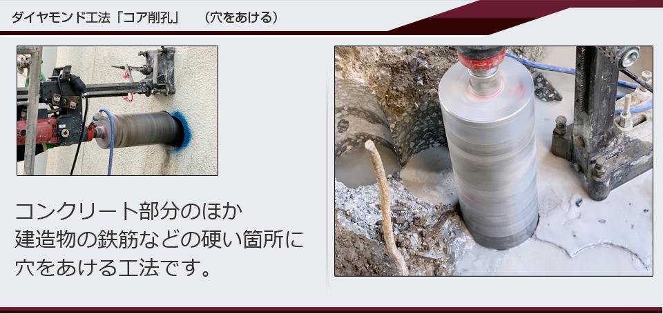 ダイヤモンド工法 コア削孔