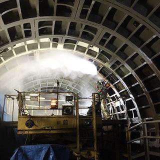 超高圧水ウォータージェット コンクリート構造物の表面処理