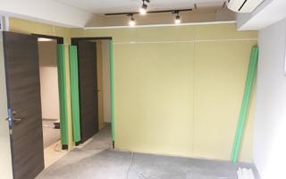 空間デザイン/内装リニューアル/リフォーム 間仕切りの施工