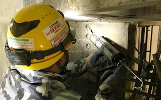 あと施工アンカー工事、6.セメント系薬剤注入状況(1)