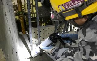 あと施工アンカー工事、7.セメント系薬剤注入状況(2)