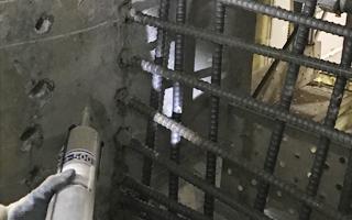 あと施工アンカー工事、8.鉄筋挿入
