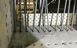 あと施工アンカー工事、9.鉄筋挿入後状況
